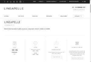 Lineapelle 2020 Sept – Milan Rho Fiera (Italy leather fair)
